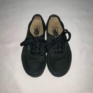Vans Black Low Pro kids size 12